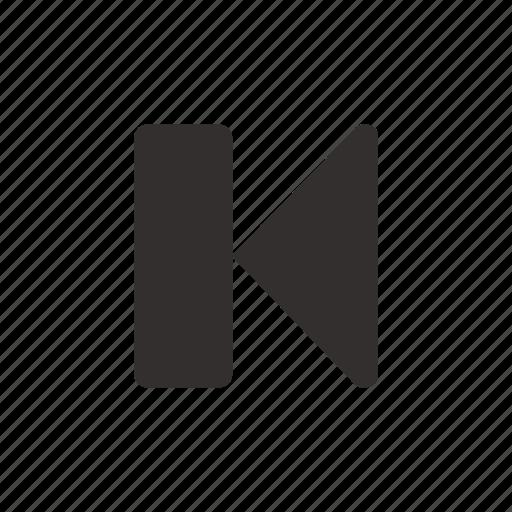 back, control, media, multimedia, player, previous, track icon