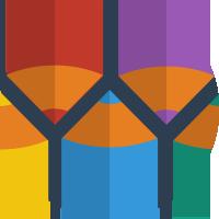 colors, document, edit, pen, pencil, write icon