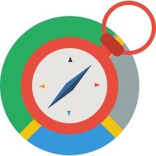 browser, clock, compass, globe, navigate icon