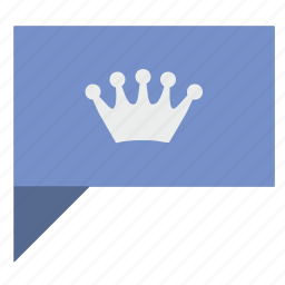 comment, crown, king, message, news, poi, queen icon