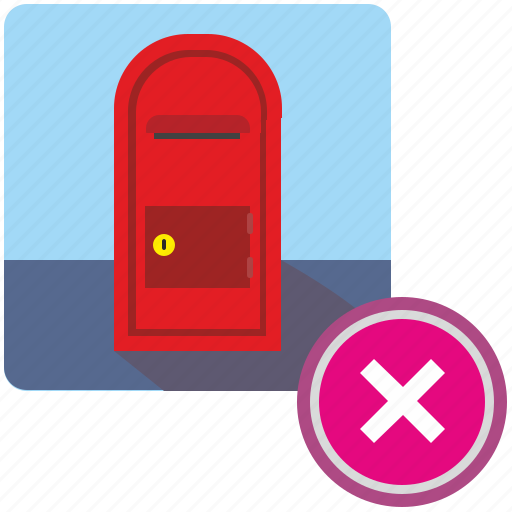 cancel, delete, mail, post, postbox, service, stop icon