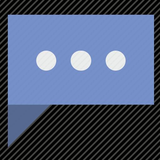 comment, dialog, dots, pause, poi, text icon