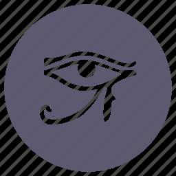 culture, egypt, eye, god, history icon