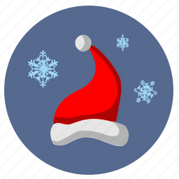 christmas, hat, new, santa, snowflakes, winter, year icon