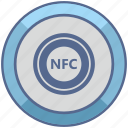chip, label, nfc, payment, round icon