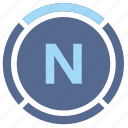 compass, device, navigation, north icon
