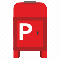 mail, p, poi, post, postbox, service icon