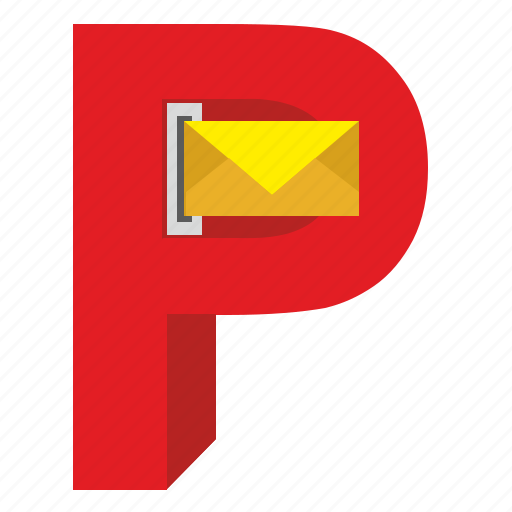 design, mail, p, post, postbox, service icon