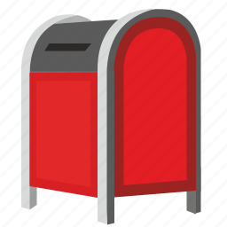 box, mail, post, postbox, red, sending icon