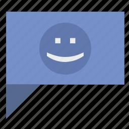 comment, dialog, feel, news, poi, smile icon