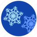 nature, round, sky, snowflakes, winter icon