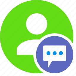 chat, comments, human, people, person, user icon