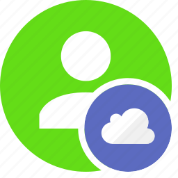 cloud, human, people, person, user icon