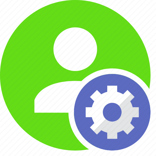 gear, human, people, person, settings, user icon