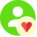 favorite, heart, human, love, people, person, user icon