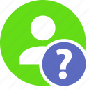 faq, help, human, people, person, user icon