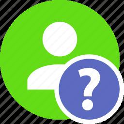 faq, help, human, people, person, user icon