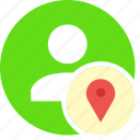 gps, local, location, maps, people, person, user icon