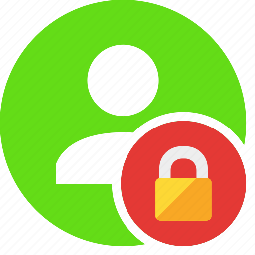 block, human, lock, people, person, secure, user icon