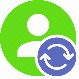 human, people, person, refresh, sync, user icon