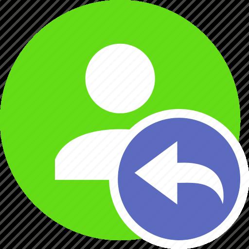 human, people, person, undo, user icon