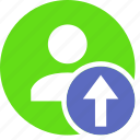 human, people, person, up, upload, user icon