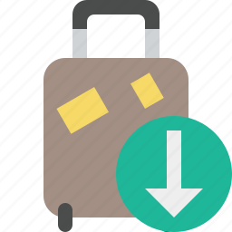 bag, baggage, download, luggage, suitcase, travel, vacation icon