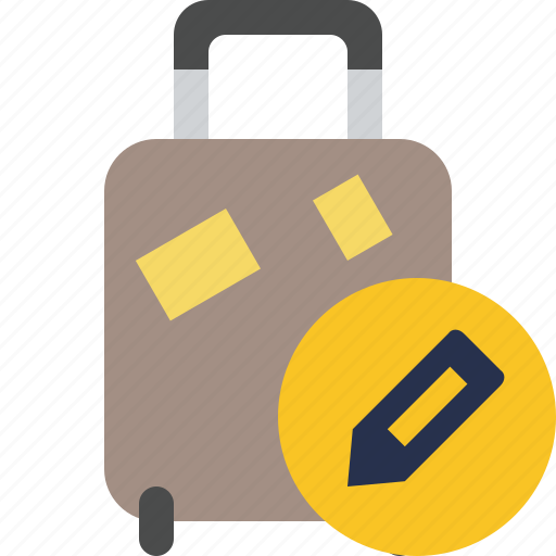 bag, baggage, edit, luggage, suitcase, travel, vacation icon