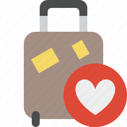 bag, baggage, favorites, luggage, suitcase, travel, vacation icon