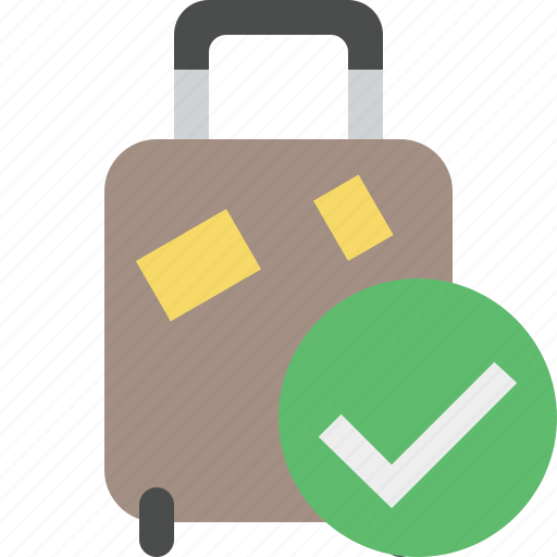 bag, baggage, luggage, ok, suitcase, travel, vacation icon