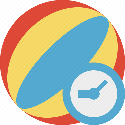 ball, beach, clock, game, summer, travel, vacation icon