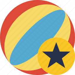 ball, beach, game, star, summer, travel, vacation icon
