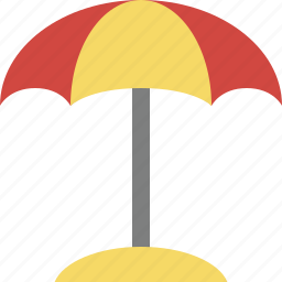 beach, summer, sun, travel, umbrella, vacation icon