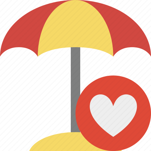beach, favorites, summer, sun, travel, umbrella, vacation icon
