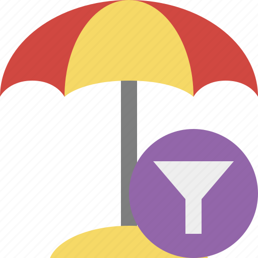 beach, filter, summer, sun, travel, umbrella, vacation icon