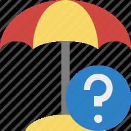 beach, help, summer, sun, travel, umbrella, vacation icon