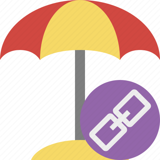 beach, link, summer, sun, travel, umbrella, vacation icon