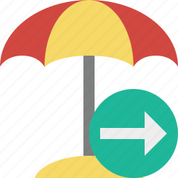 beach, next, summer, sun, travel, umbrella, vacation icon