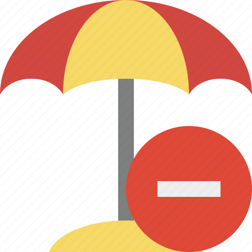 beach, stop, summer, sun, travel, umbrella, vacation icon
