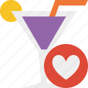 alcohol, beverage, cocktail, drink, favorites, glass, vacation icon