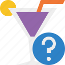 alcohol, beverage, cocktail, drink, glass, help, vacation icon