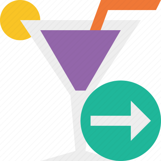 alcohol, beverage, cocktail, drink, glass, next, vacation icon