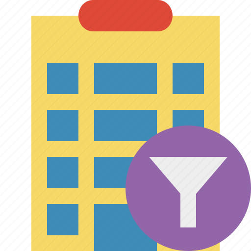 building, city, filter, hotel, office, travel, vacation icon
