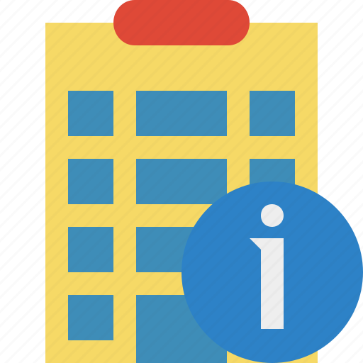 building, city, hotel, information, office, travel, vacation icon