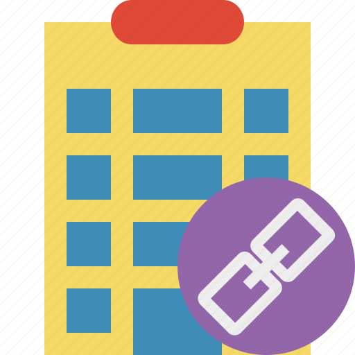 building, city, hotel, link, office, travel, vacation icon