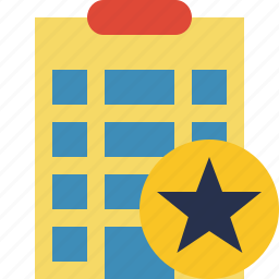 building, city, hotel, office, star, travel, vacation icon