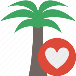 favorites, palmtree, travel, tree, tropical, vacation icon
