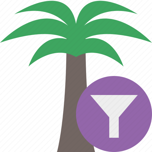 filter, palmtree, travel, tree, tropical, vacation icon