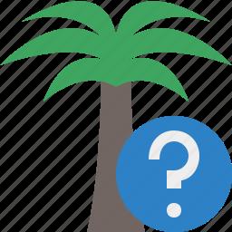 help, palmtree, travel, tree, tropical, vacation icon