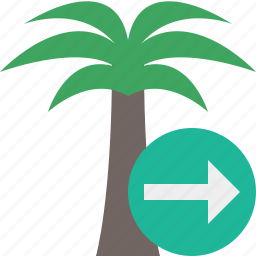 next, palmtree, travel, tree, tropical, vacation icon